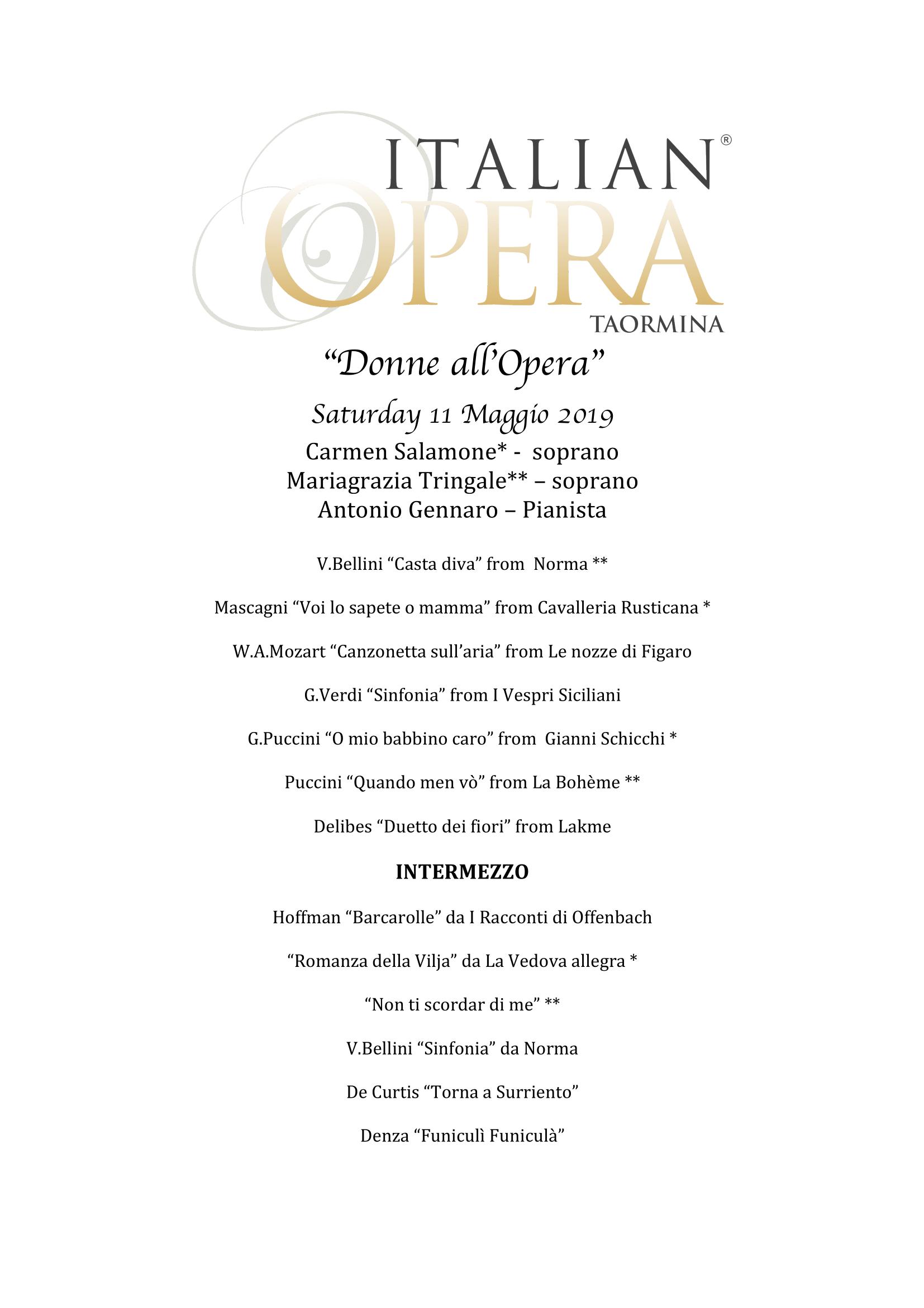 Opera In Park Saturday Night Barcarolle >> Events